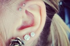Double-Forward-Helix-Piercing