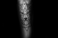awesome-geometric-wolf-tattoos-for-men-with-triangles-on-inner-forearm