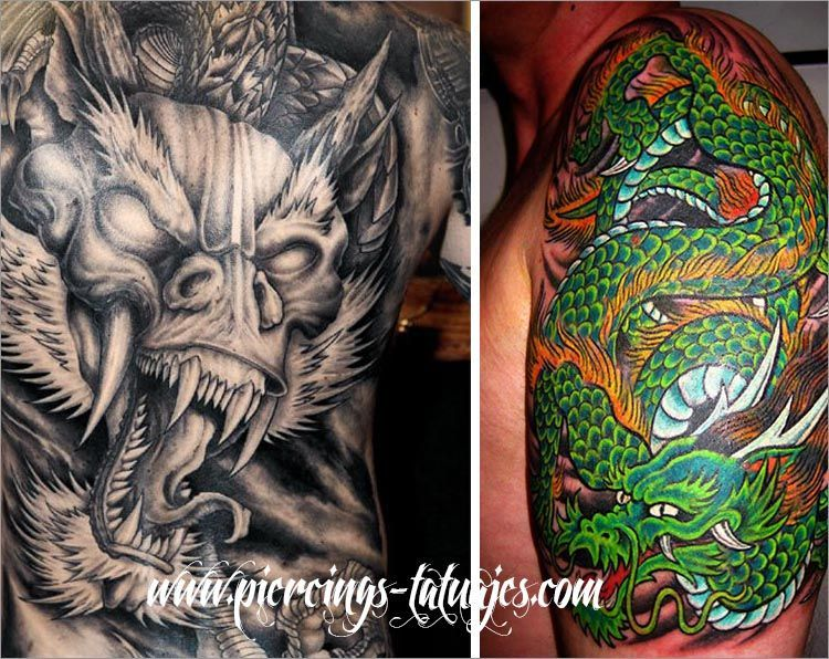 tattoos dragones chinos
