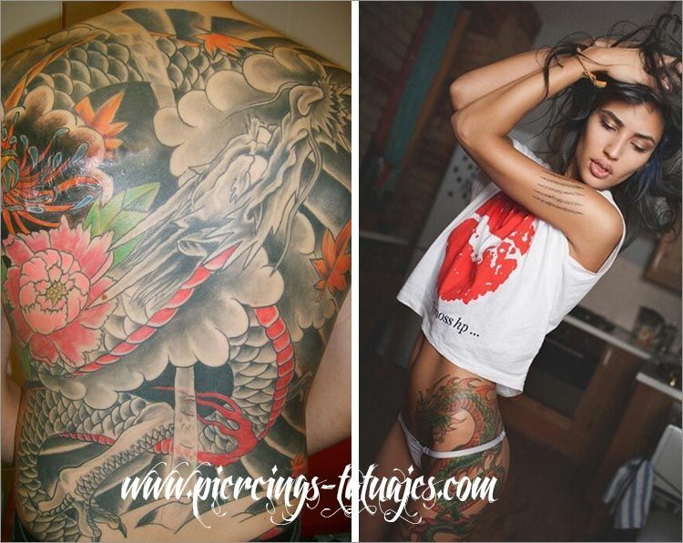 tattoos dragones japoneses