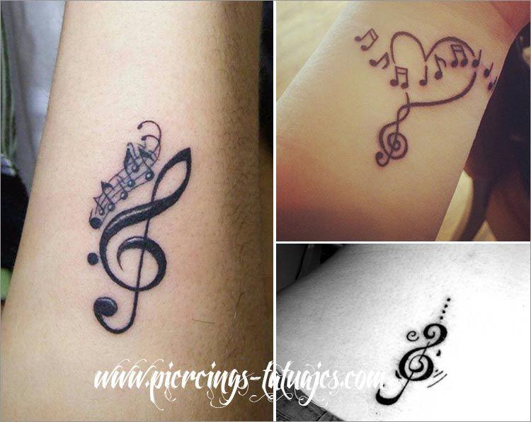tatuajes pequeños notas musicales