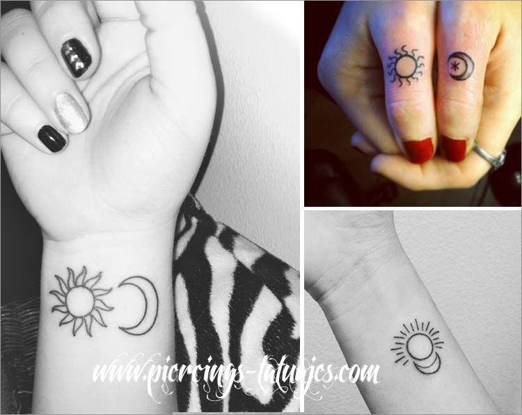 tatuajes pequeños de sol y luna