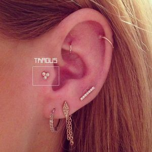 piercing tragus mujer